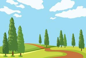 Une belle route de nature vecteur