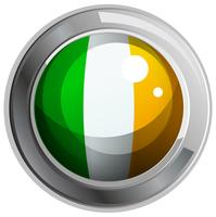 Drapeau d'Irlande sur le badge rond vecteur