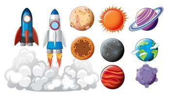 Ensemble d'objets spatiaux vecteur
