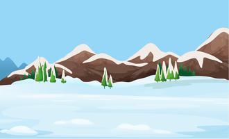 Un paysage de glace vecteur
