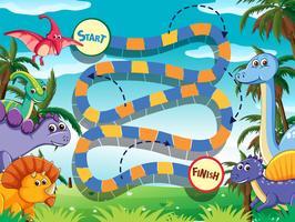 Modèle de jeu de société Dino