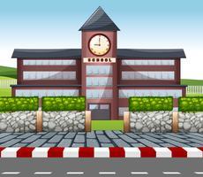 Un bâtiment scolaire moderne vecteur