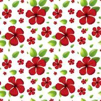 Couture d'hibicus rouge à l'arrière
