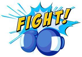 Boxe mit et mot de combat vecteur