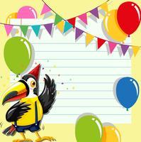 Carte d'invitation avec toucan vecteur