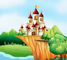 Tours de château sur la falaise