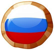 Drapeau de la Russie sur l'insigne rond vecteur