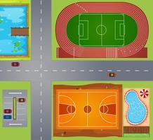 Zone de sport vecteur