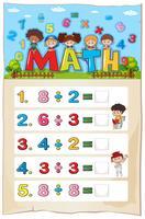 Conception de la feuille de calcul mathématique pour la division