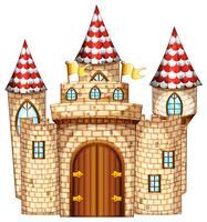 Tour du château avec porte en bois vecteur