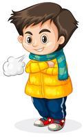Fond blanc froid enfant vecteur