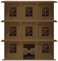Bâtiment en bois de style occidental