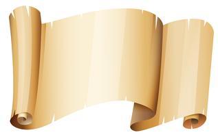 Morceau de papier brun vecteur