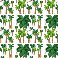 Fond transparent avec des palmiers vecteur