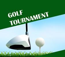Conception d'affiche pour tournoi de golf vecteur