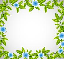 Cadre nature fleur bleue vecteur