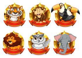 Modèle de bannière avec des animaux sauvages
