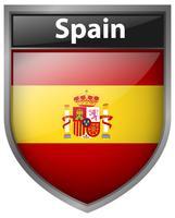 Conception d'icône pour le drapeau de l'Espagne vecteur