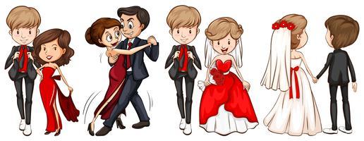 Un groupe de couples