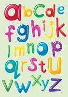 Conception de polices avec alphabets anglais vecteur