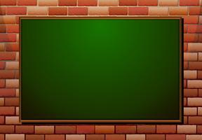 Tableau sur le mur de briques