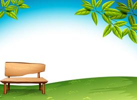 Un banc en bois vecteur