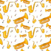 Fond transparent avec saxophone vecteur