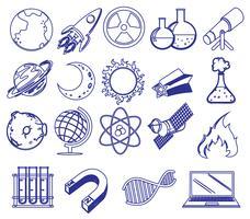 Différentes images de la science vecteur