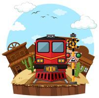 Trajet en train vers la ville de l'ouest