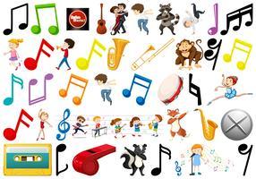 ensemble d'objets musicaux