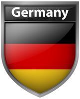 Drapeau de l'Allemagne sur le badge vecteur