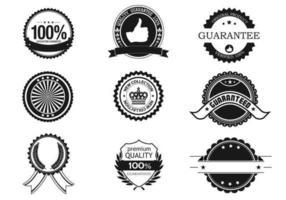 Insigne d'affaires et pack de vecteur d'étiquette