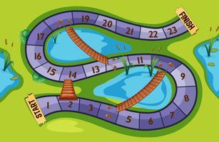 Modèle de jeu avec fond de parc
