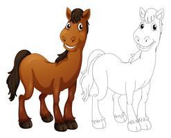 Contour animal pour cheval vecteur