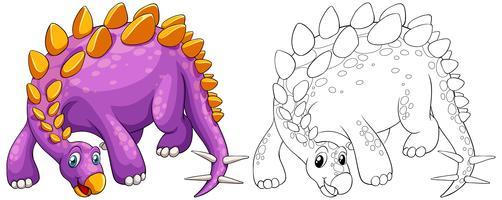 Contour des animaux pour stegosaurus vecteur