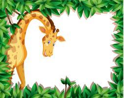 Une girafe dans un cadre nature vecteur