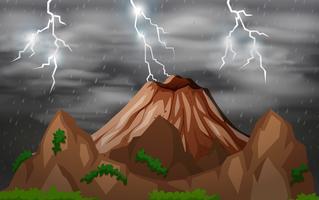 Tempête nuit nature fond vecteur
