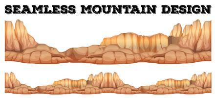 Montagne sans faille dans un canyon