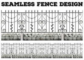 Conception de clôture sans couture avec clôture en métal
