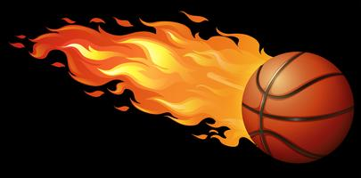 Feu de basket vecteur