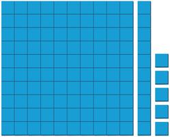Motif de carrés bleus sur fond blanc