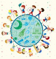 Les enfants aiment la science à travers le monde