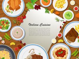 Conception de l'affiche avec la cuisine italienne