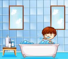Salle de bains vecteur