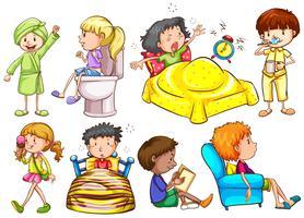 Les enfants font des activités différentes