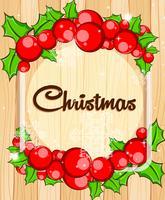 Modèle de bordure avec gui de Noël vecteur