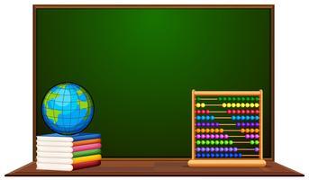 Tableau et autres articles scolaires vecteur