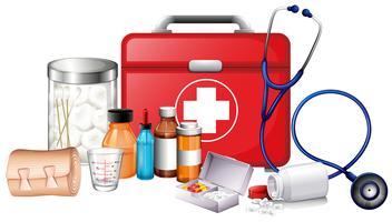 Différents types d'équipements médicaux vecteur