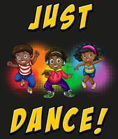 Enfants faisant de la danse hiphop vecteur