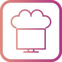 Vecteur connecté à l'icône de nuage